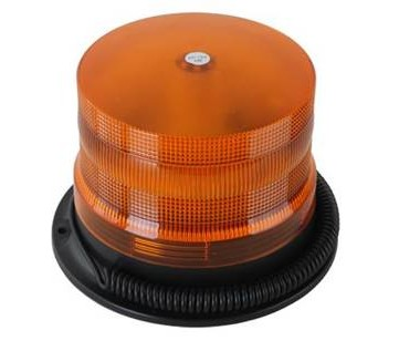Roterende advarselblink med 18 super LED - 12/24 volt