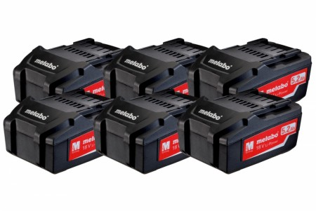 Metabo batteri sett 6 x 5,2 Ah Li-Power 18V